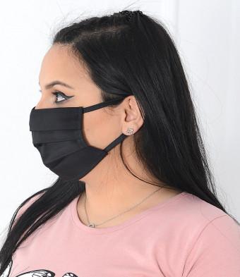 Set 5 Bucati de Masca Faciala Bumbac si TNT Black