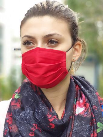 Set 5 Bucati de Masca Faciala pentru Adolescenti Red