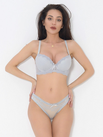 Compleu Sutien Cupa B si Chilot Normal 6640-04