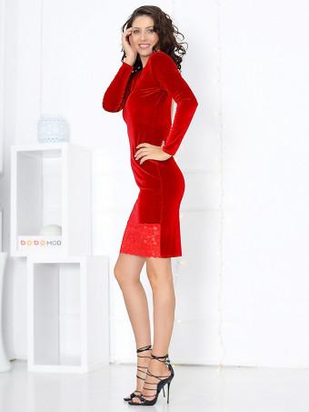 Rochie din Catifea Natasha Red
