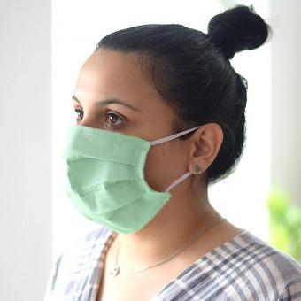 Set 10 Bucati de Masca Faciala Bumbac 03 Lime
