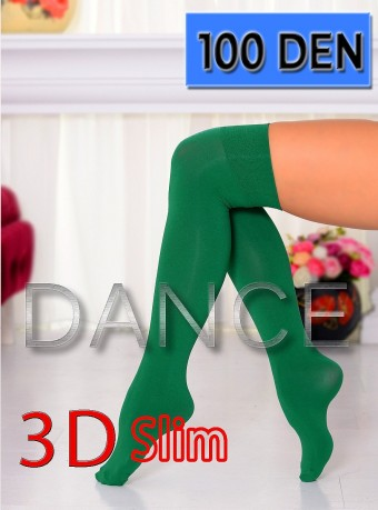 Sosete 5/6 Dance 3D 100 DEN Green