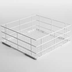 Cos universal  metalic alb, pentru spalat, 40x40x15 cm