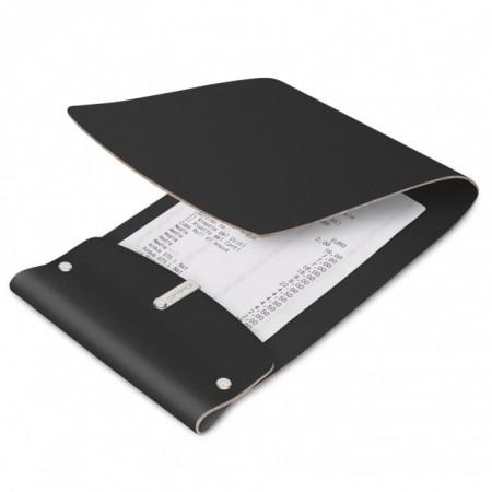 Nota de plata din piele, culoare neagra 13x17.5 cm