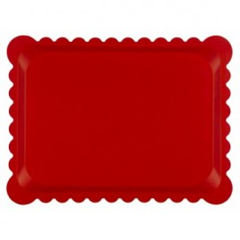 Tava multistrat, model dantelat, 30x40 cm, culoare rosu mat