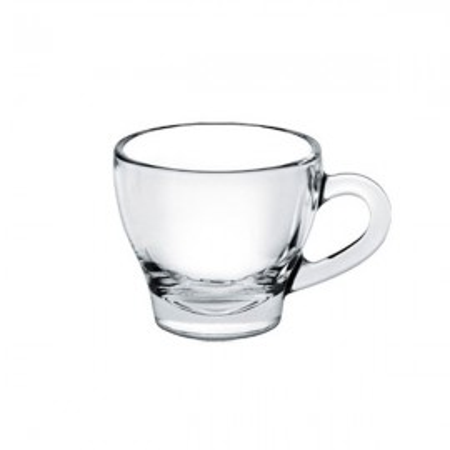 Ischia: Ceasca+farfurioara Din Sticla  180 Cc