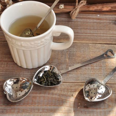 Lingurita ceai si infuzor in forma de inima, 14 cm