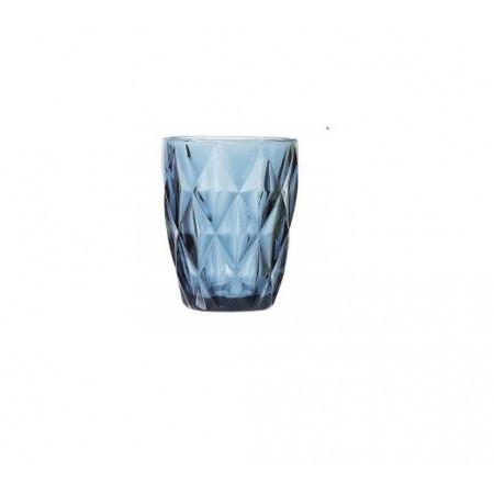 Pahar din sticla  model Syros, 270cc, albastru