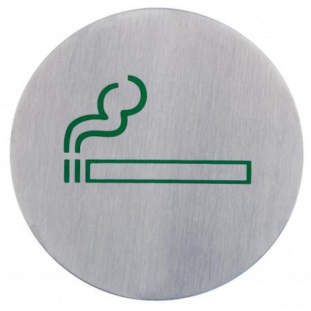 Poze Semn indicator loc pentru fumat/fumatori (din inox),  Ø 7.5 cm