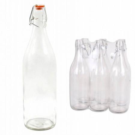 Poze Set 6 sticle cu dop ermetic Lella, 1 litru