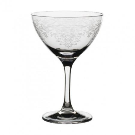 Pahar din cristal pentru vin 250 ml decorat model Lace