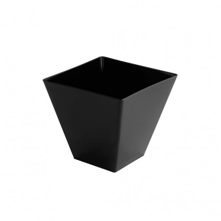 Set 24 boluri plastic unica folosinta, 95 cc - negre