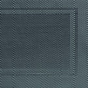 Napron Pvc Culoare Neagra  45 X 33 Cm Cadre Gri