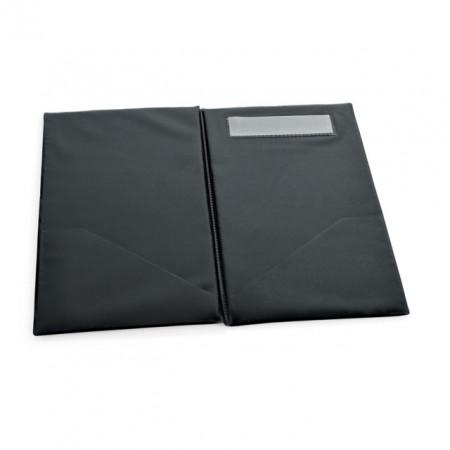 Nota de plata din plastic, culoare neagra, 26x14 cm