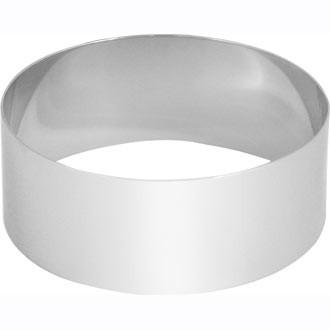 Forma inox rotunda (mousse), Ø 8.8 x H 3.5 cm