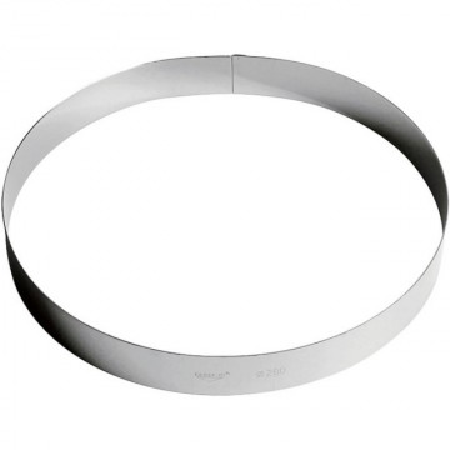 Inel inox tort 28 cm, h=3.5 cm