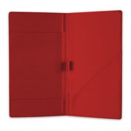 Nota de plata din pvc, culoare rosie