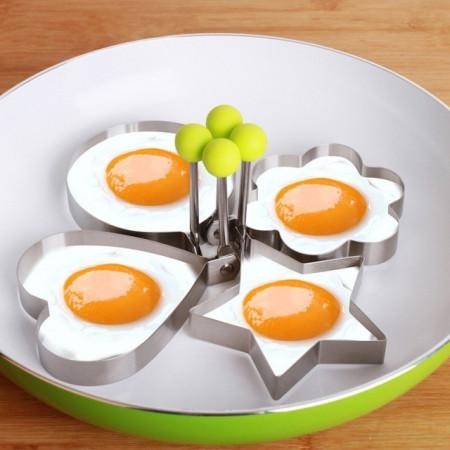 Set 2 forme inox Cerc pentru oua prajite