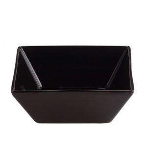 Poze Bol patrat negru din portelan, 8x8 cm