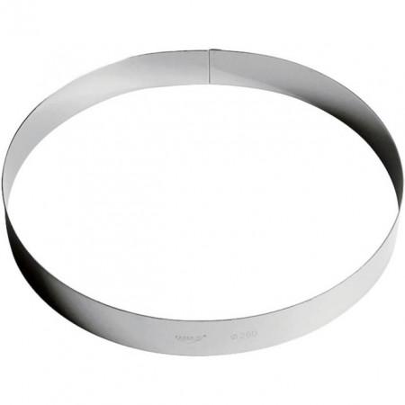 Inel inox tort 30 cm, h=3.5 cm