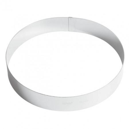 Inel inox tort 26 cm, h=4.5 cm