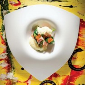 Farfurie triunghiulara adanca, Chef's Collection, 29 cm