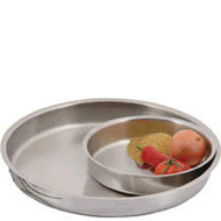 Tava inox rotunda, 30 x H5 cm pentru cuptor