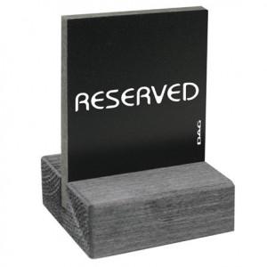 """Semn """"Reserved"""" din lemn"""