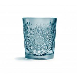 Pahar din sticla model Hobstar, 350 ml - albastru