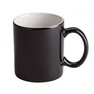 Cana interior alb si exterior negru, 320 ml