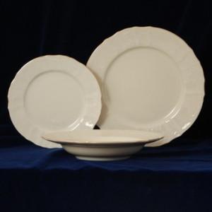 Portelan hotelier Bernadotte: Set 6 Farfurii desert 21 cm - culoare ivoriu