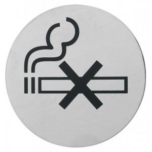 Semn indicator pentru nefumatori (din inox),  Ø 7.5 cm