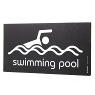 Semn indicator Swimming Pool, 8x15 cm