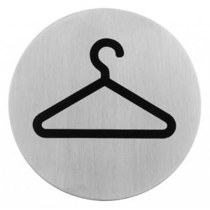 Semn indicator pentru garderoba (din inox),  Ø 7.5 cm