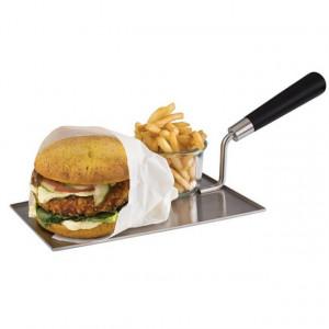 Paleta inox pentru servire hamburger si cartofi prajiti