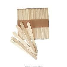 Set 50 buc bete din lemn pentru inghetata, 11.4x1 cm
