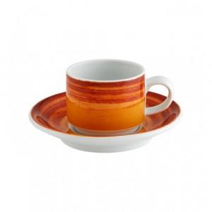 Ceasca+farfurioara 85 ml, mandarin