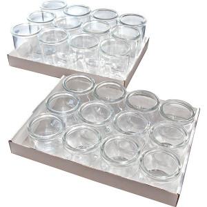 Set 12 recipiente gourmet, din sticla, 80 ml