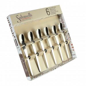 Set 6 lingurite inox pentru espresso model Goccia