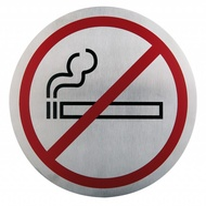 Semn indicator pentru nefumatori (din inox),  Ø 16 cm