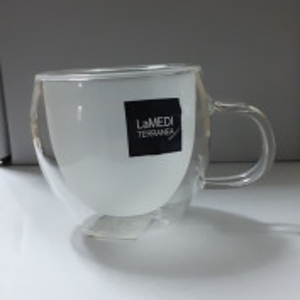 Ceasca din sticla cu perete dublu pentru cafea 100 ml