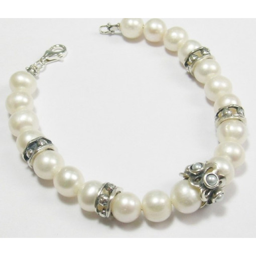Bratara din argint cu perle B5601
