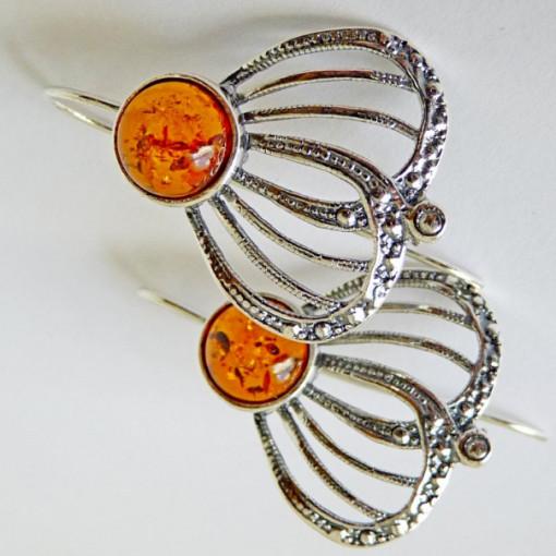 Cercei argint -chihlimbar cogniac E2468