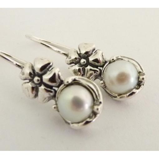 Cercei argint cu perla E3472