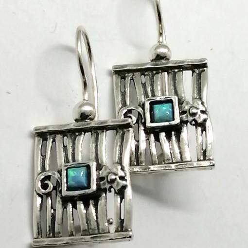 Cercei argint opal E2642-opal
