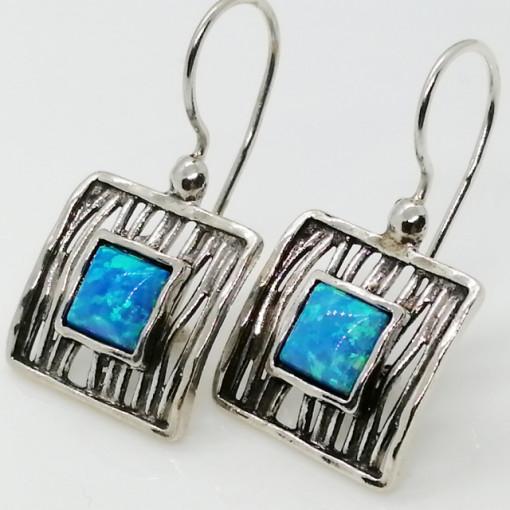 Cercei argint opal -E2826