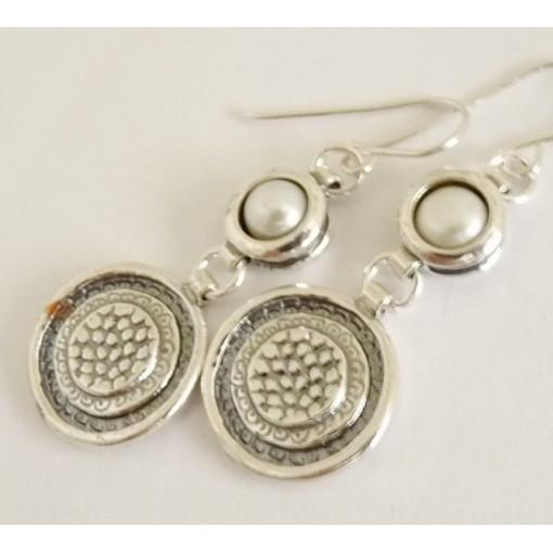 Cercei argint perla -E557