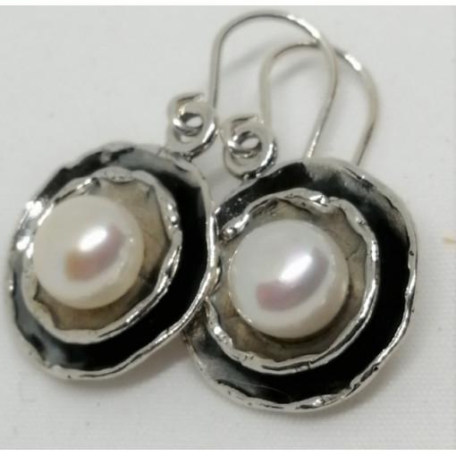 Cercei argint si perla de cultura E1499