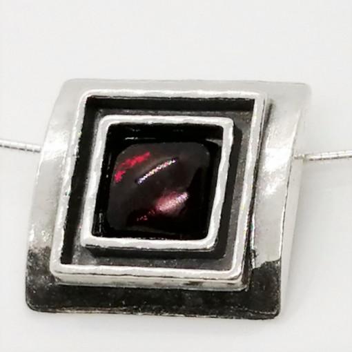 Colier argint granat N1844