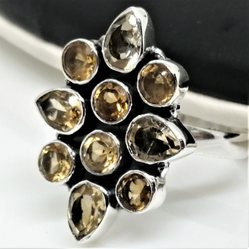 Inel argint cu citrin- R200